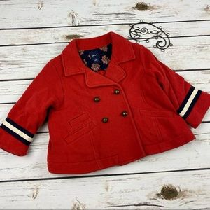 Baby Gap Jacket Girls 12-18 Months Red Sweater